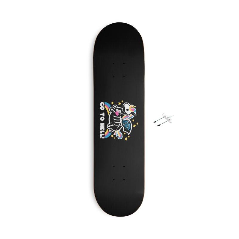Skeleton Unicorn Accessories Skateboard by Threadless Artist Shop