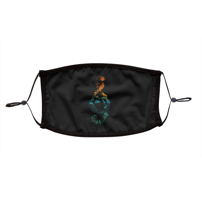 SOUND OF NATURE Accessories Face Mask by Threadless Artist Shop