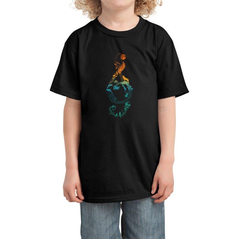 SOUND OF NATURE Kids T-Shirt by Threadless Artist Shop