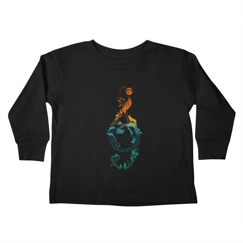 SOUND OF NATURE Kids Toddler Longsleeve T-Shirt by Threadless Artist Shop