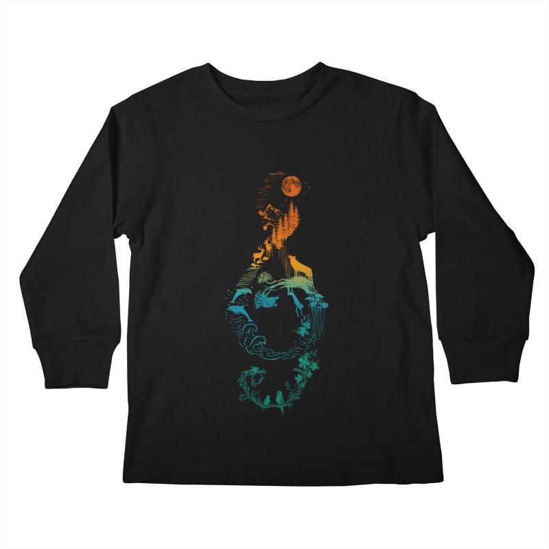 SOUND OF NATURE Kids Longsleeve T-Shirt by Threadless Artist Shop