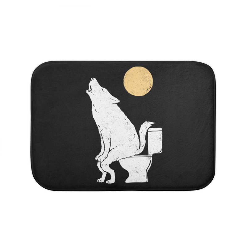 Howling At Night Home Bath Mat by Threadless Artist Shop