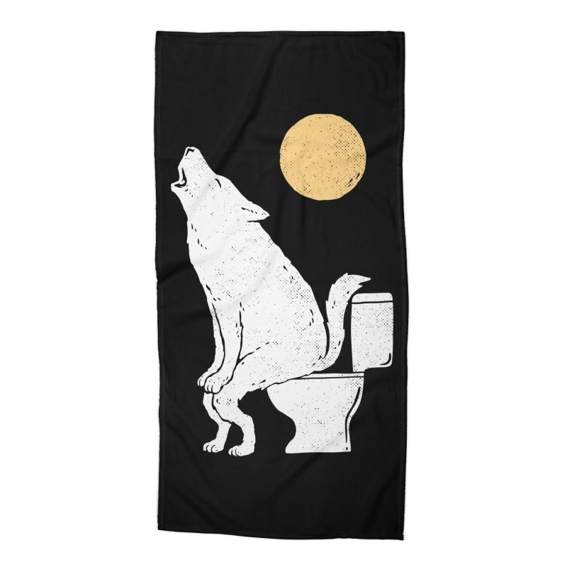 Howling At Night Accessories Beach Towel by Threadless Artist Shop
