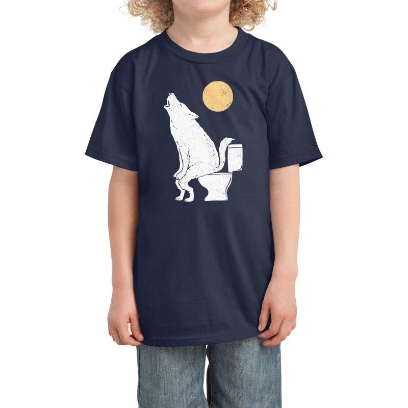 Howling At Night Kids T-Shirt by Threadless Artist Shop