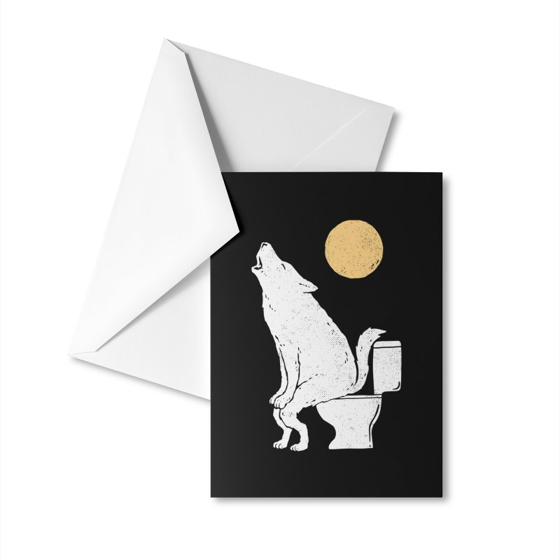 Howling At Night Accessories Greeting Card by Threadless Artist Shop