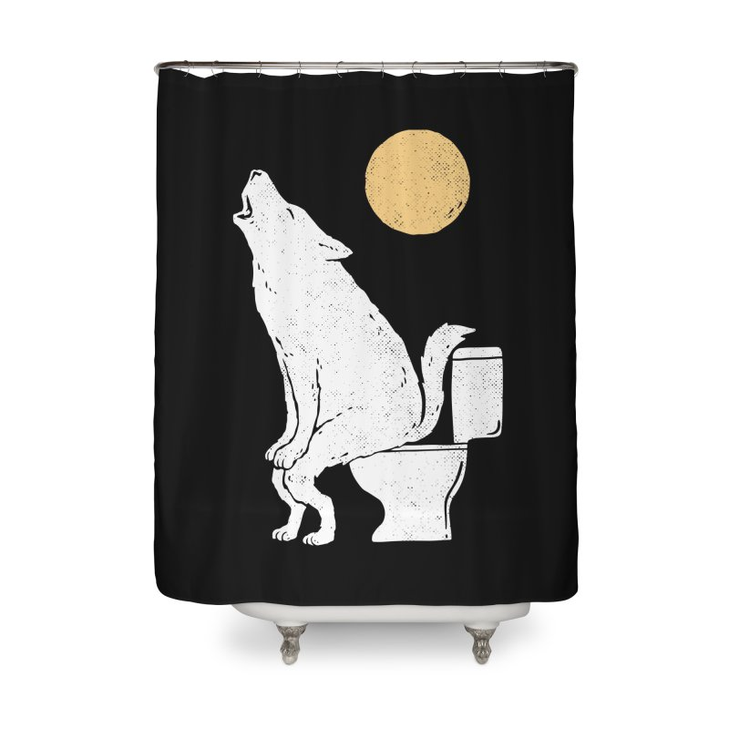 Howling At Night Home Shower Curtain by Threadless Artist Shop