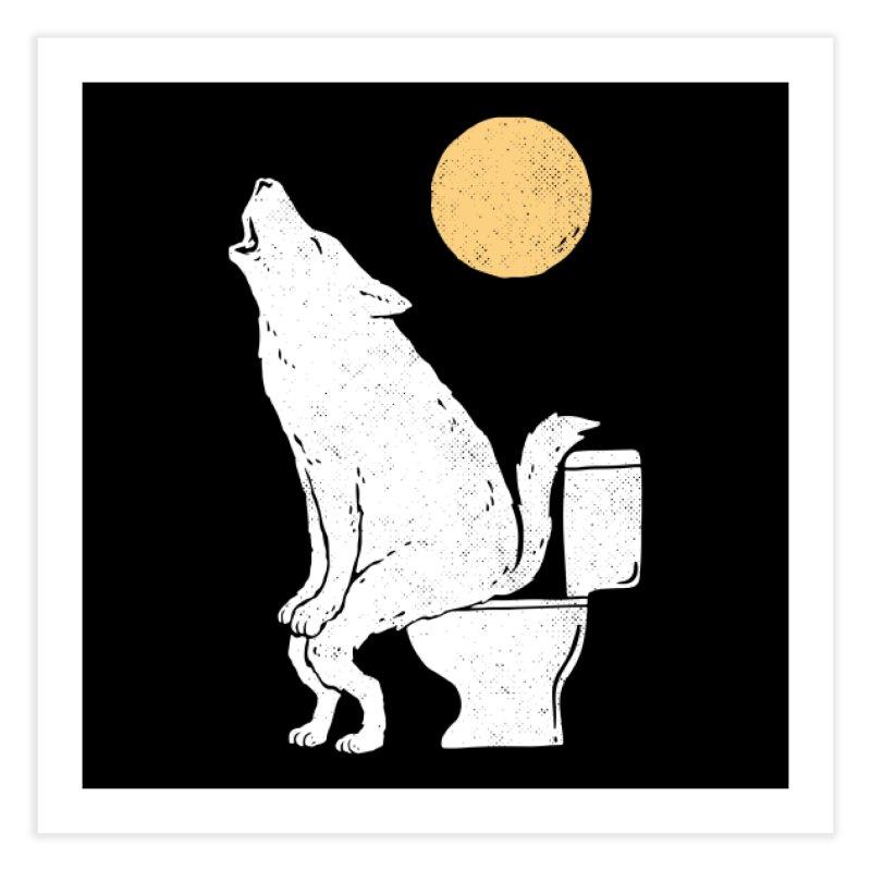 Howling At Night Home Fine Art Print by Threadless Artist Shop