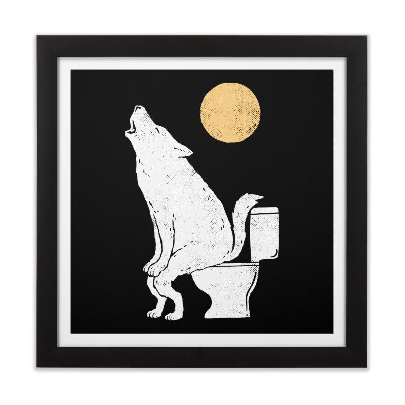 Howling At Night Home Framed Fine Art Print by Threadless Artist Shop