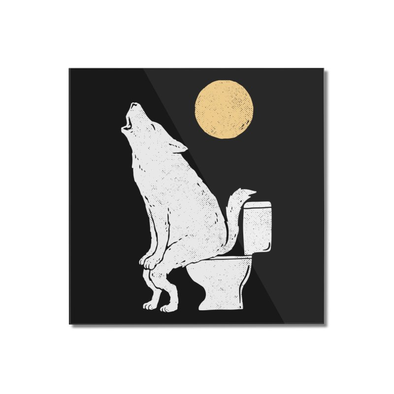 Howling At Night Home Mounted Acrylic Print by Threadless Artist Shop