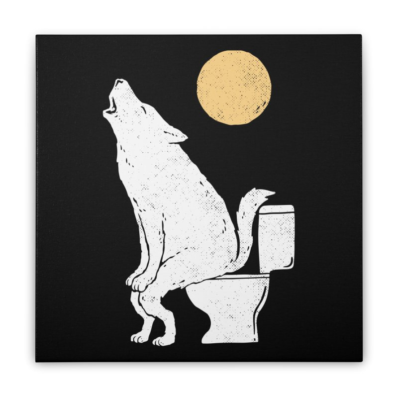 Howling At Night Home Stretched Canvas by Threadless Artist Shop