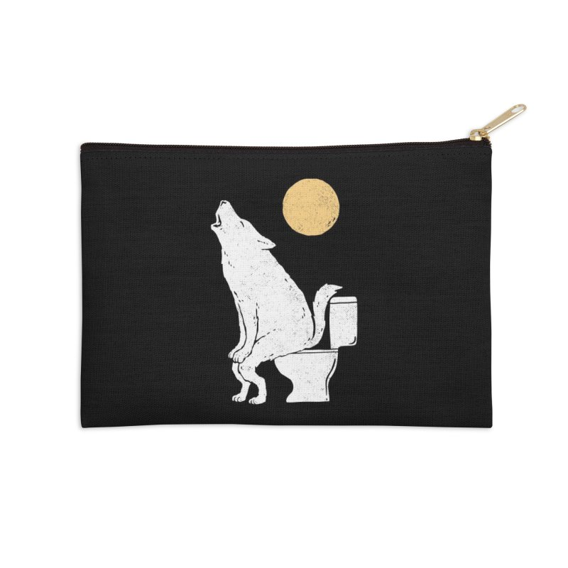 Howling At Night Accessories Zip Pouch by Threadless Artist Shop