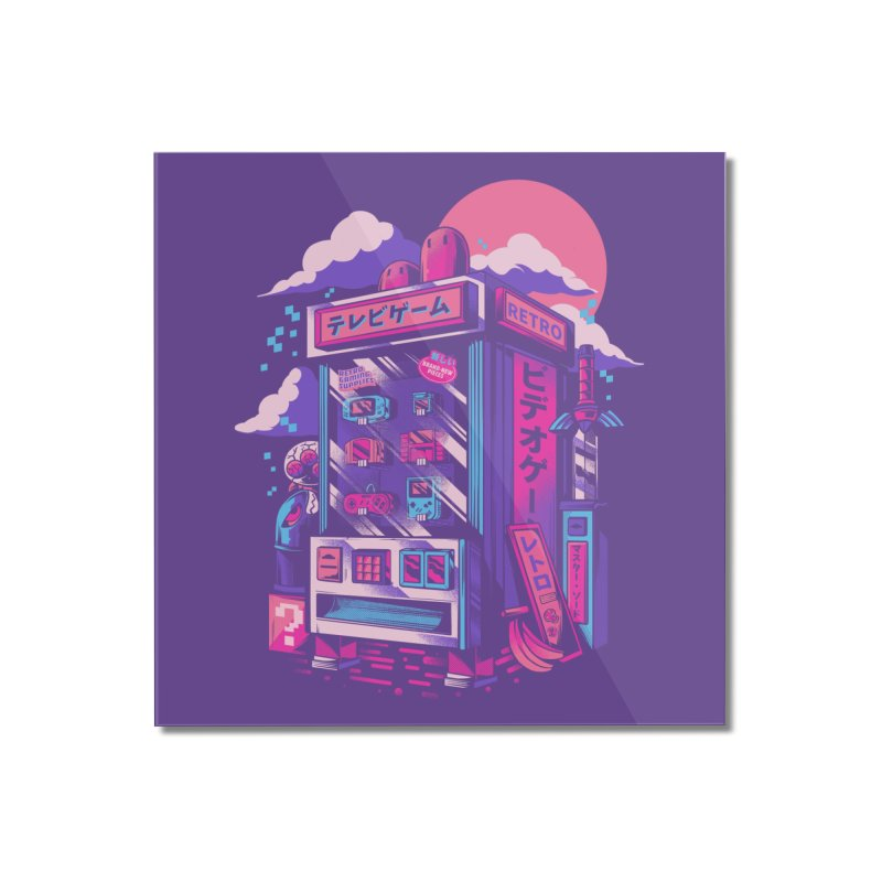 Retro gaming machine Home Mounted Acrylic Print by Threadless Artist Shop