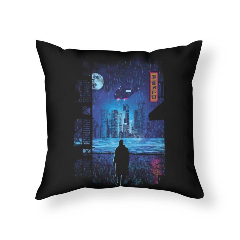 2049 Home Throw Pillow by Threadless Artist Shop
