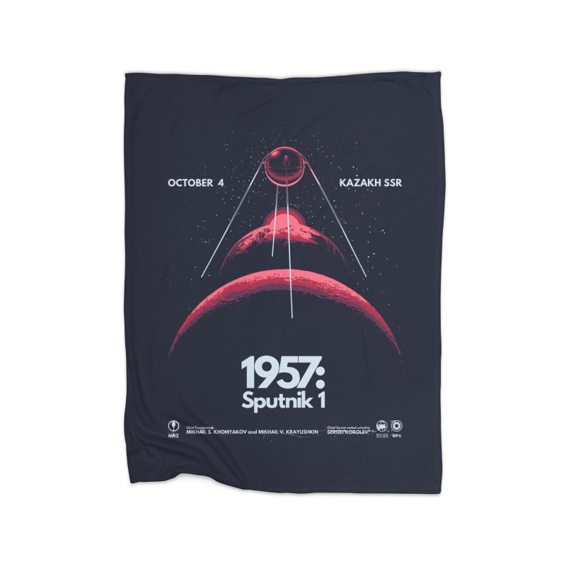 1957: Sputnik 1 Home Blanket by Threadless Artist Shop