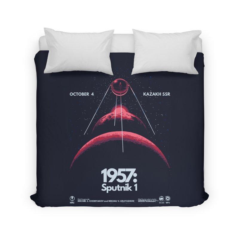 1957: Sputnik 1 Home Duvet by Threadless Artist Shop