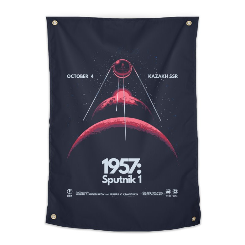 1957: Sputnik 1 Home Tapestry by Threadless Artist Shop