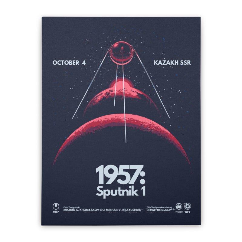 1957: Sputnik 1 Home Stretched Canvas by Threadless Artist Shop