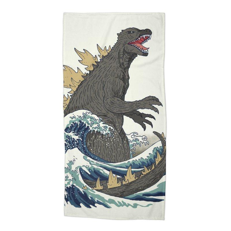 The Great Monster Off Kanagawa Accessories Beach Towel by Threadless Artist Shop