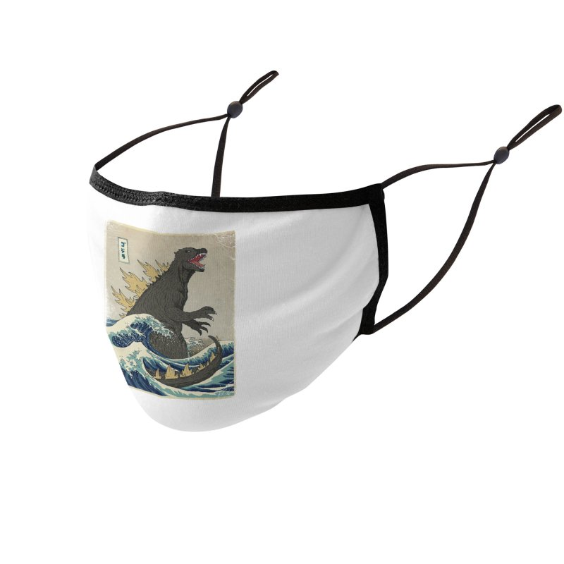 The Great Monster Off Kanagawa Accessories Face Mask by Threadless Artist Shop