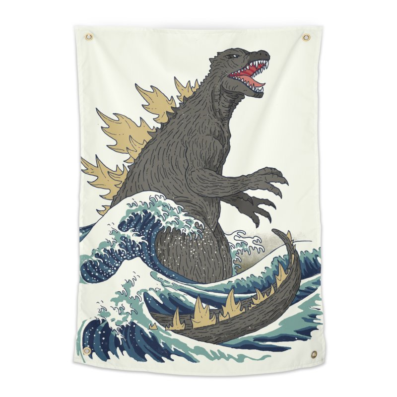 The Great Monster Off Kanagawa Home Tapestry by Threadless Artist Shop