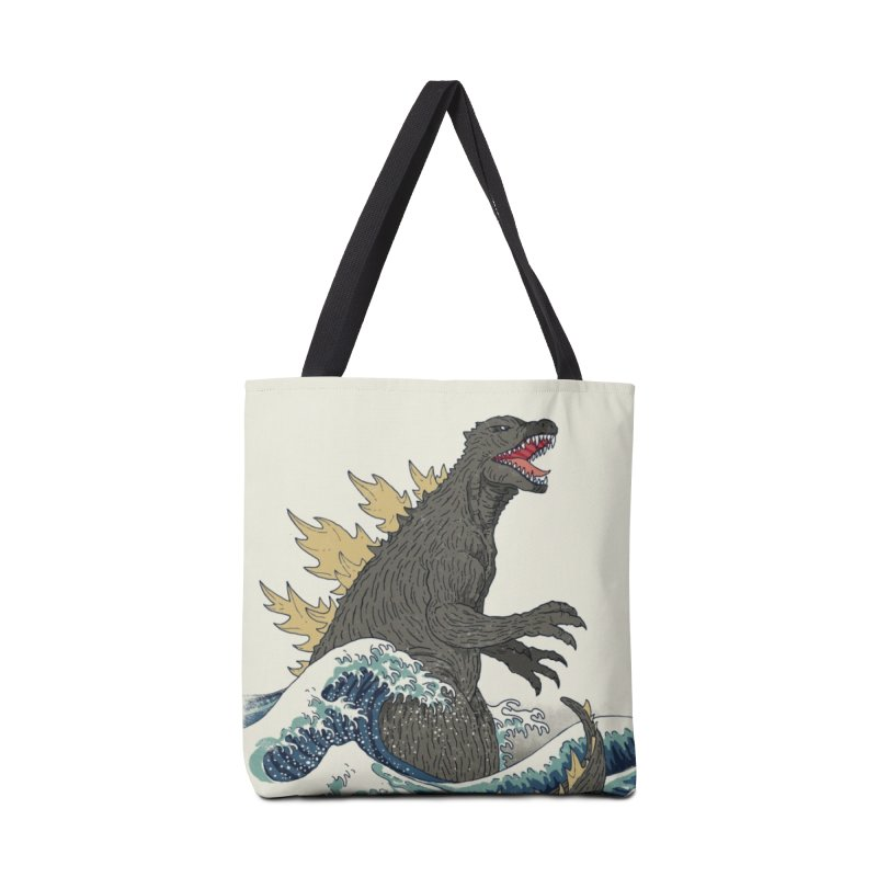 The Great Monster Off Kanagawa Accessories Bag by Threadless Artist Shop
