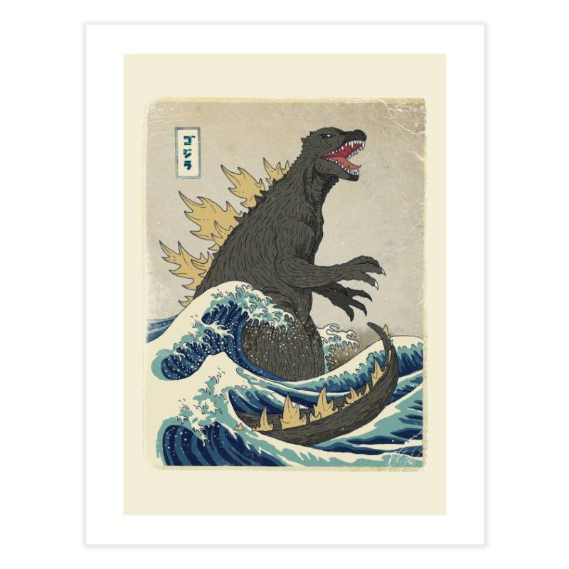 The Great Monster Off Kanagawa Home Fine Art Print by Threadless Artist Shop