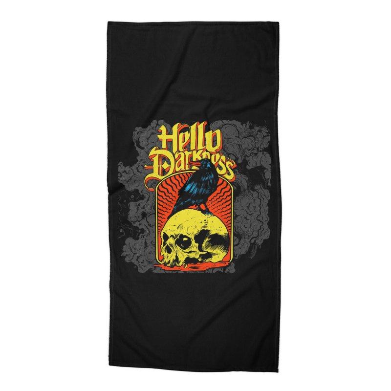 Hello Darkness Accessories Beach Towel by Threadless Artist Shop