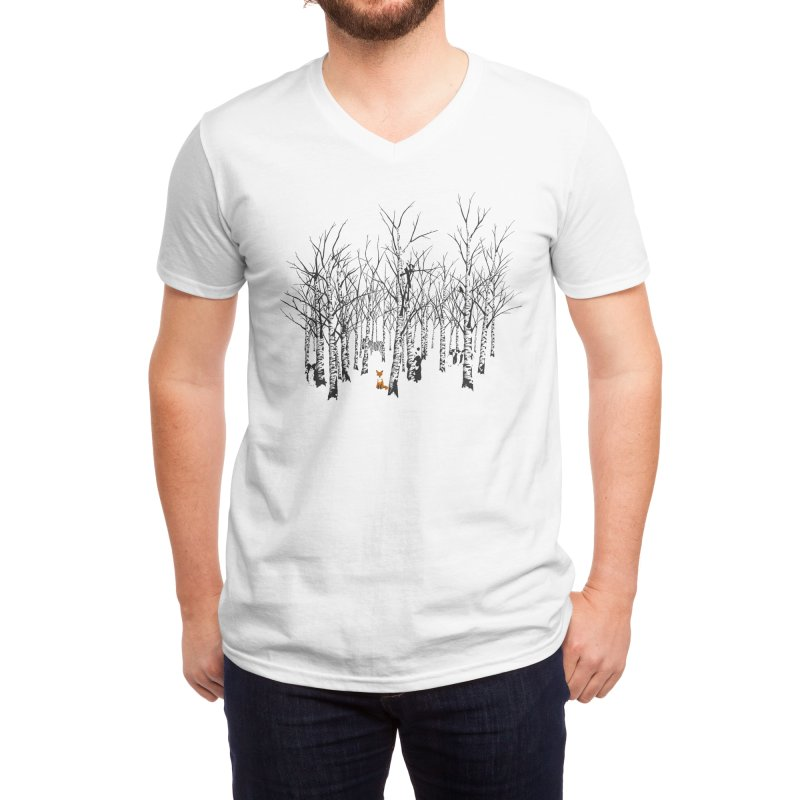 Larry the Fox Doesn't Feel So Clever Anymore. Men's V-Neck by Threadless Artist Shop