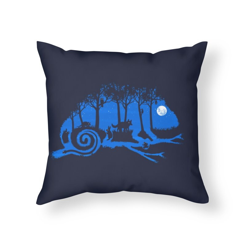 The Midnight Forest Home Throw Pillow by Threadless Artist Shop