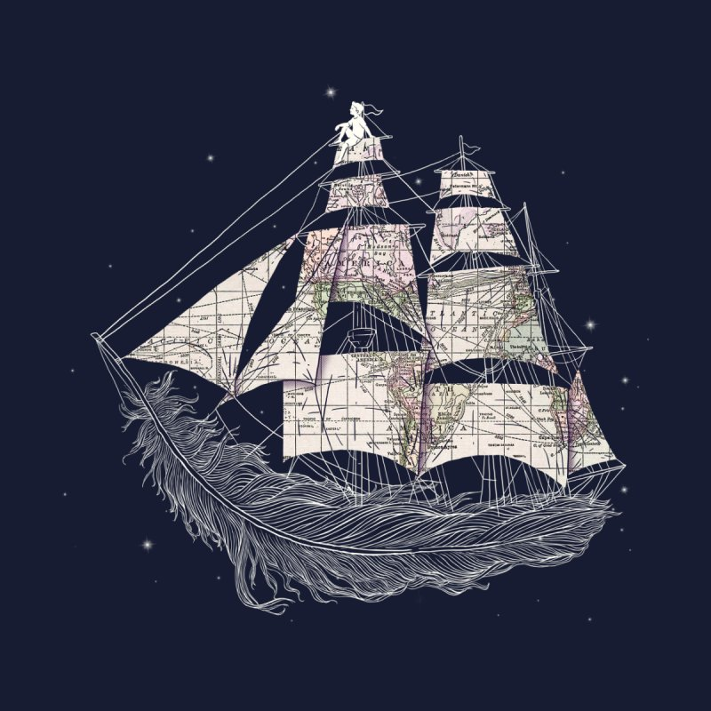Wherever the Wind Blows Men's T-Shirt by Threadless Artist Shop