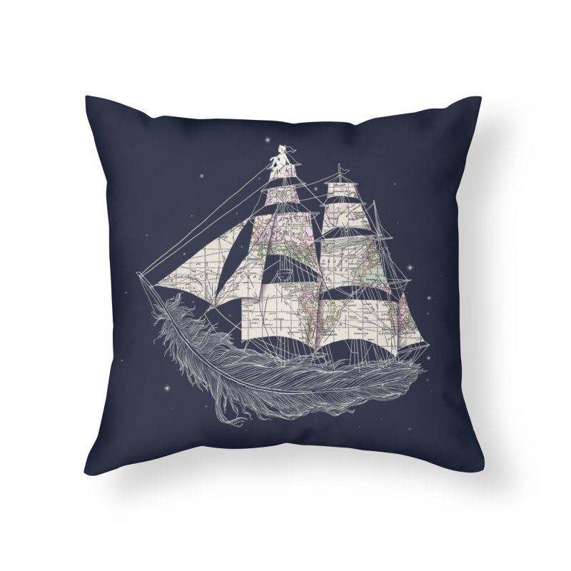 Wherever the Wind Blows Home Throw Pillow by Threadless Artist Shop