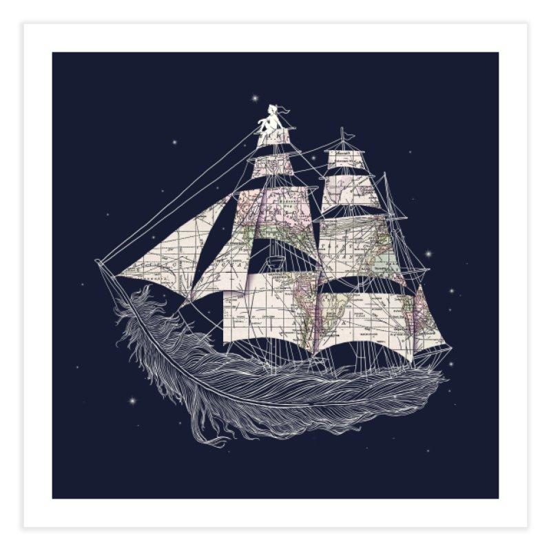 Wherever the Wind Blows Home Fine Art Print by Threadless Artist Shop