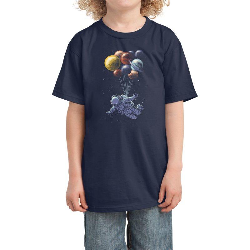 Space Travel Kids T-Shirt by Threadless Artist Shop