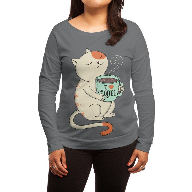 Cat - Coffee Man Women's Longsleeve T-Shirt by Threadless Artist Shop