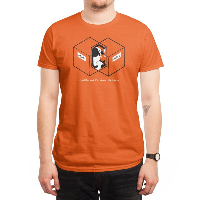 Schrodinger's Venn Diagram Men's T-Shirt by Threadless Artist Shop
