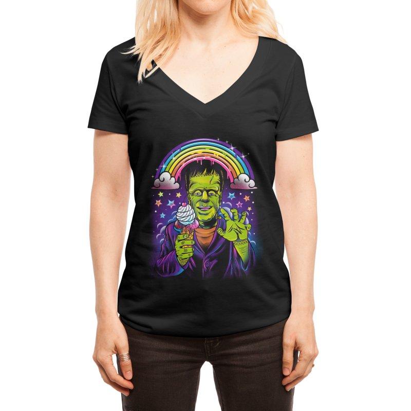 Lisa Frankenstein Women's V-Neck by Threadless Artist Shop