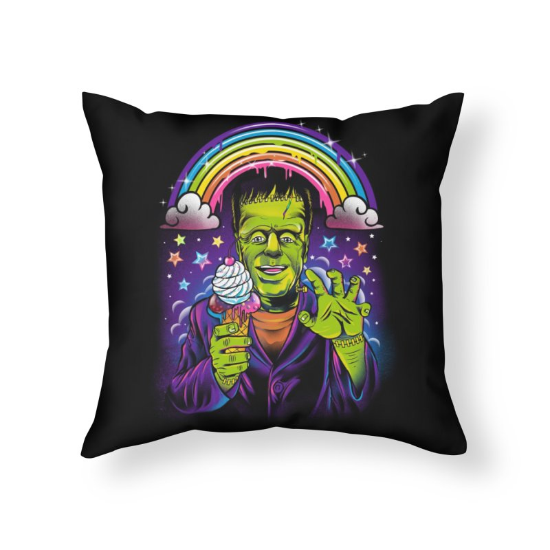 Lisa Frankenstein Home Throw Pillow by Threadless Artist Shop