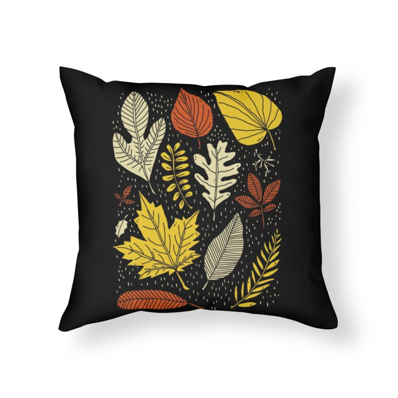 Simply Leaves Home Throw Pillow by Threadless Artist Shop