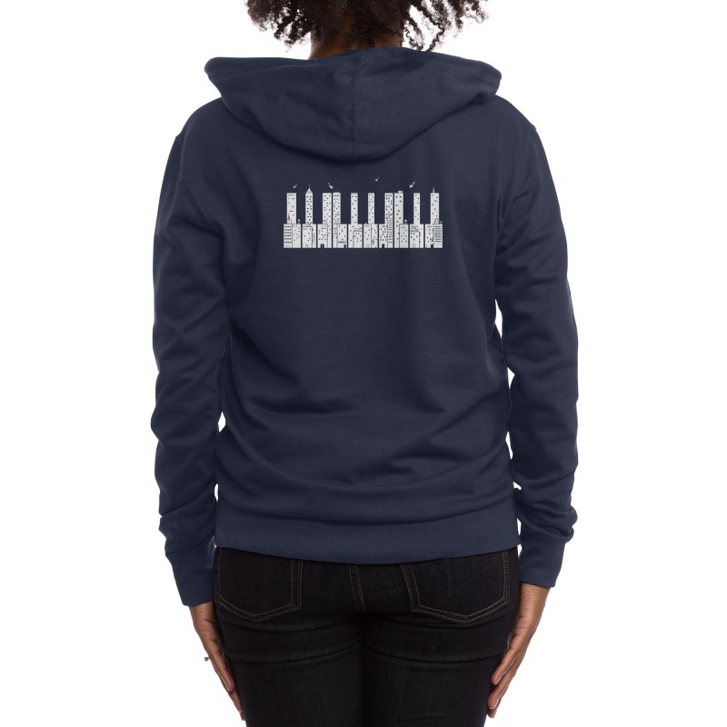 Piano Skyline Women's Zip-Up Hoody by Threadless Artist Shop