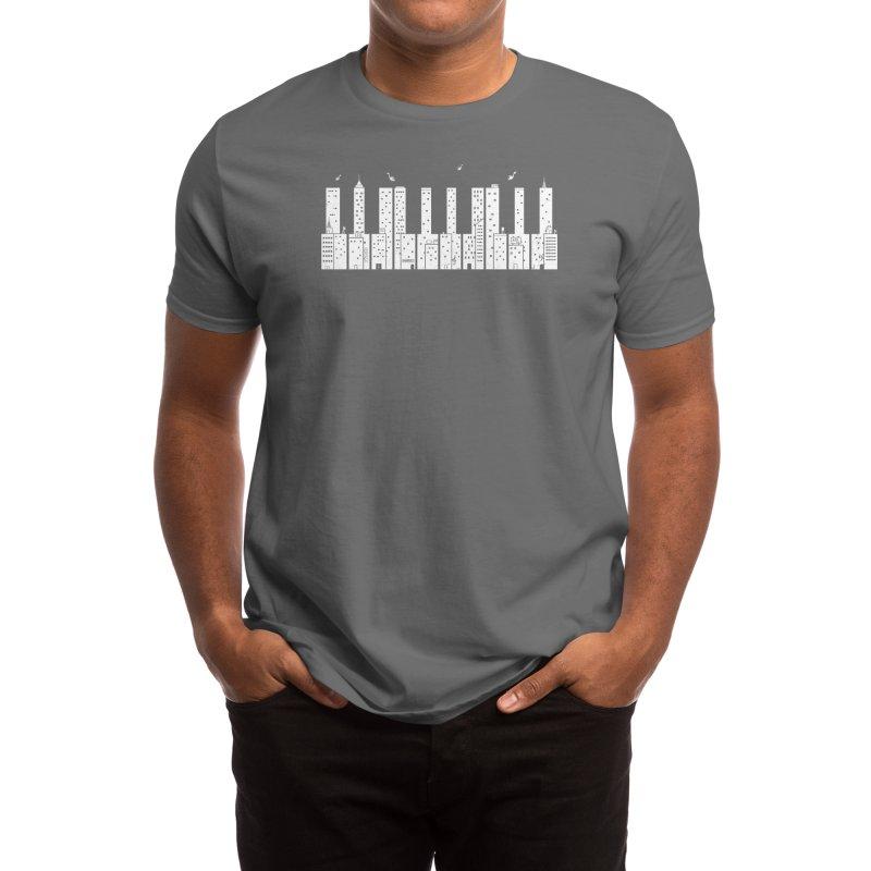Piano Skyline Men's T-Shirt by Threadless Artist Shop