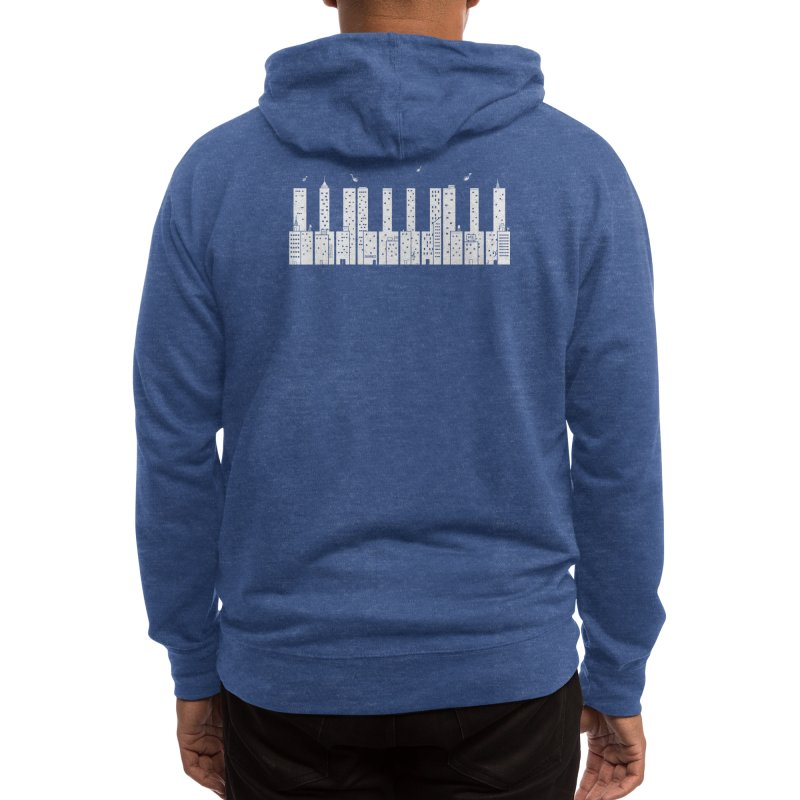 Piano Skyline Men's Zip-Up Hoody by Threadless Artist Shop