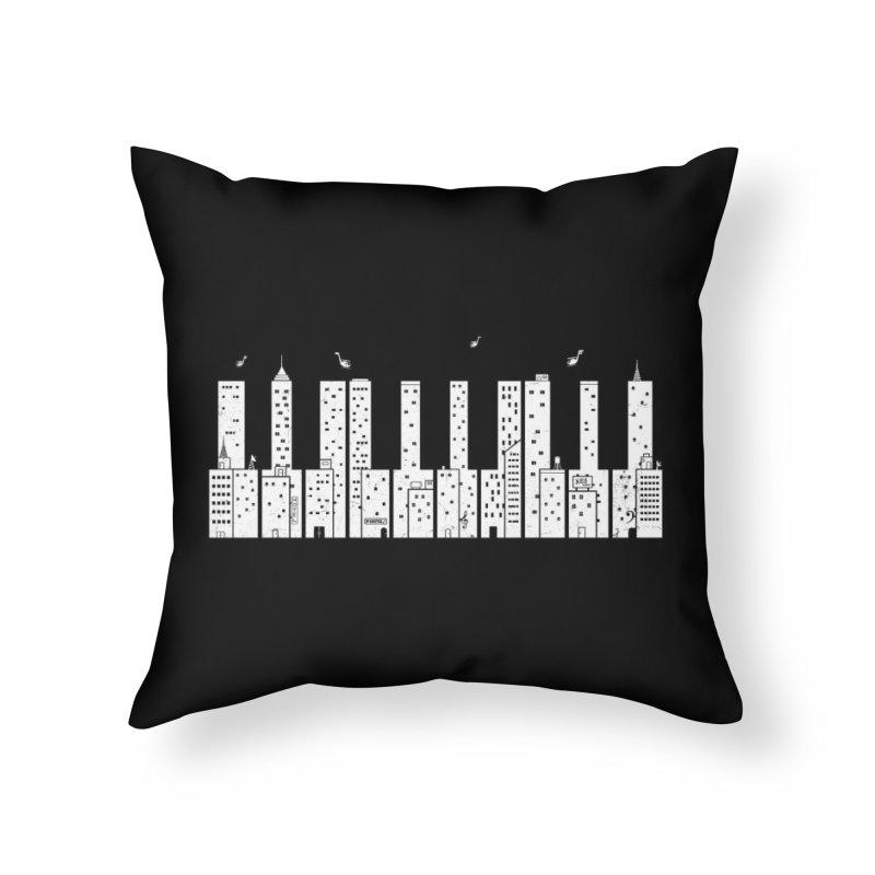 Piano Skyline Home Throw Pillow by Threadless Artist Shop