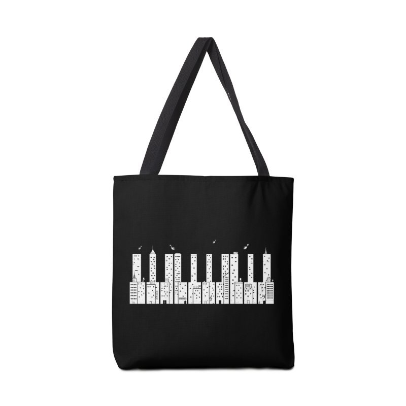Piano Skyline Accessories Bag by Threadless Artist Shop