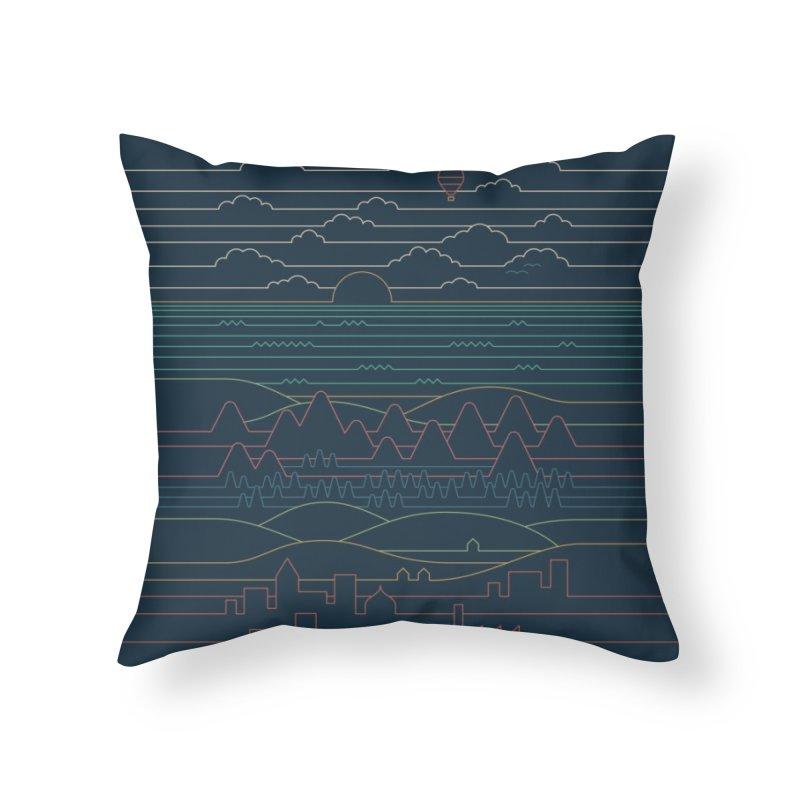 Linear Landscape Home Throw Pillow by Threadless Artist Shop