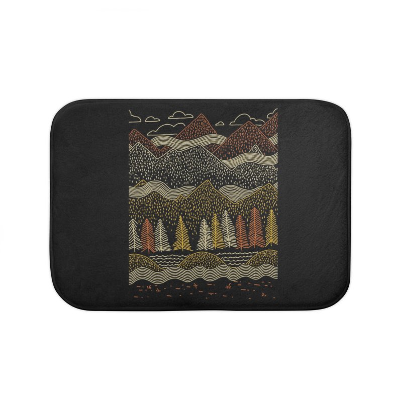 Misty Mountains Home Bath Mat by Threadless Artist Shop