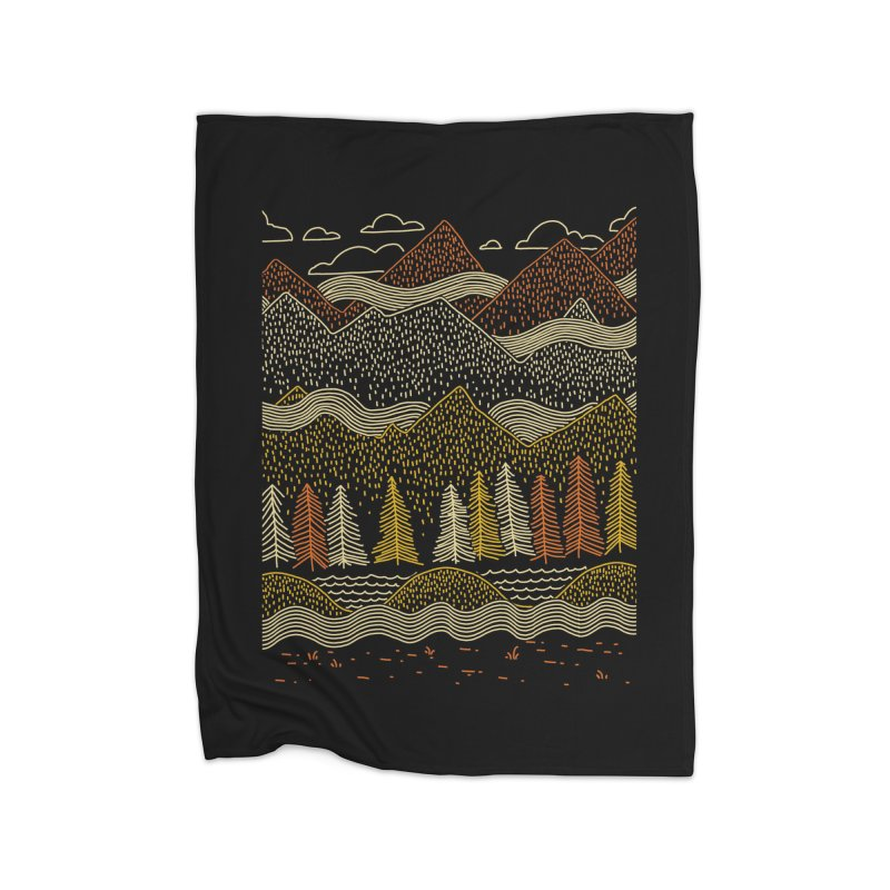 Misty Mountains Home Blanket by Threadless Artist Shop