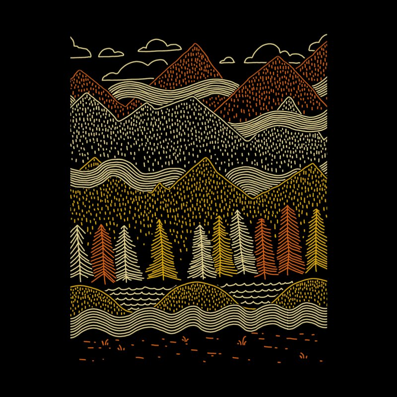 Misty Mountains Home Shower Curtain by Threadless Artist Shop