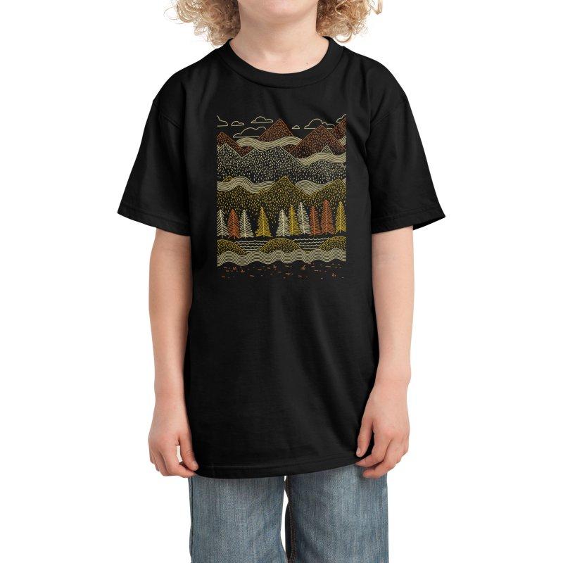 Misty Mountains Kids T-Shirt by Threadless Artist Shop