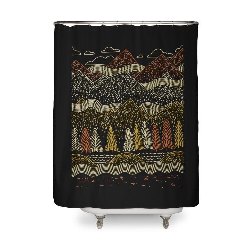 Misty Mountains Home Shower Curtain by Threadless Artist Shop