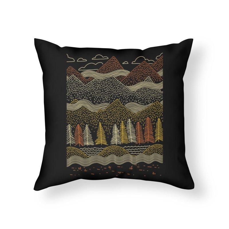 Misty Mountains Home Throw Pillow by Threadless Artist Shop